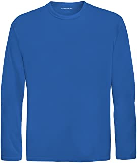 DRI-Equip Youth Long Sleeve Moisture Wicking Athletic Shirts. Youth Sizes XS-XL