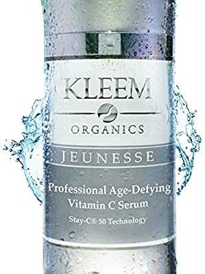 Kleem Organics Vitamin C Serum for Face with Hyaluronic Acid & Vitamin E | Natural Anti Aging Face Serum | Best Anti Wrinkle Facial Serum | Acne Spot Treatment and Dark Spot Corrector for Face [1 oz] from Kleem Organics