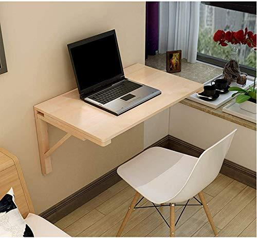 ZWWZ Mesa de Madera Maciza de Madera Maciza Escritorio de computadora, Escritorio de Cocina, Mesa de Madera de Madera, Mesa de Trabajo montada en la Pared MISU (Size : 100 * 50cm/39 * 20in)