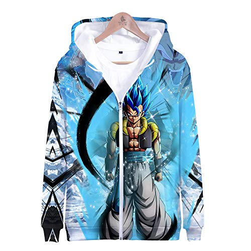 DYWLQ Dragon Ball Serie Felpe con Cappuccio Unisex Stampe 3D Pullover Uomo Donna con Tasche Coulisse 100% PoliestereHooded Sweatshirt with zip-01_M