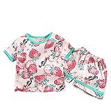 Briskorry Niños y niñas, bonito diseño de camiseta para niños pequeños, verano coreano, camiseta de manga corta, conjunto de ropa para el tiempo libre, ropa para el hogar, pantalones, ropa de ocio.