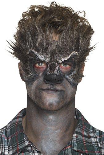 Smiffys Prothèse en mousse latex, tête de loup-garou, Marron, avec adhésif