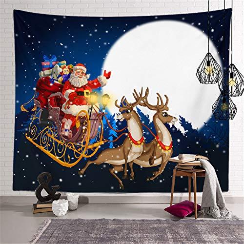 Tapiz De Poliéster De Impresión 3D, Tapiz De Impresión Digital De La Serie De Navidad, Toalla De Playa De Tapiz De Decoración del Hogar De Santa's Elk