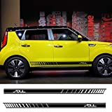 Piaobaige 2pcs Car Both Side Door Stickers for Kia Soul Auto Vinyl Film DIY Decoration Decals Automobiles Styling Tuning Car Accessories