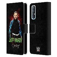 Head Case Designs オフィシャル ライセンス商品 WWE LEDイメージ 2 Jeff Hardy Oppo Find X2 Neo 5G 専用レザーブックウォレット カバーケース