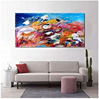 BD-Boombdl キャンバス絵画プリントアート抽象油絵キャンバスポスターリビングルーム油絵壁画家の寝室の装飾40X70cm