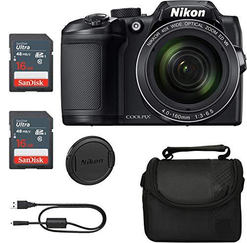 Crystal Nikon COOLPIX B500 Digital Camera (Black) Bundle