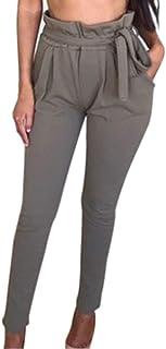 Qootent Women Harem Pant Elastic High Waist Leggings Drawstring Trouser Fashion