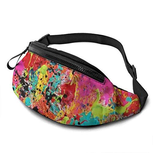 AOOEDM Colorido Salpicadura de Pintura cinturón para Correr riñonera Moda riñonera Bolsa para Hombres Mujeres Deportes Senderismo