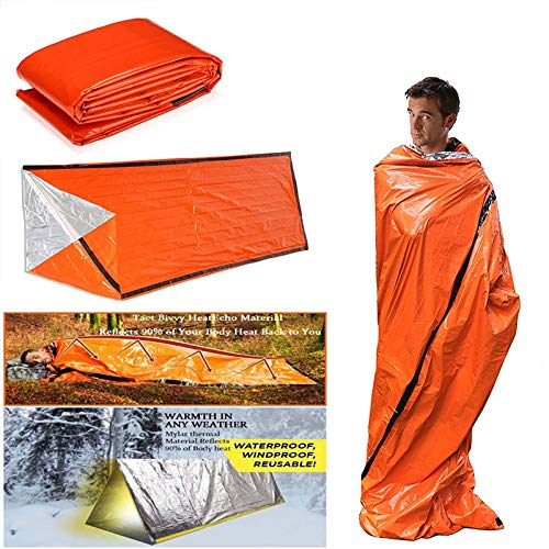 JIUYUE Sleeping bags Emergency Sleeping Bag Emergency First Aid Sleeping Bag PE Aluminum Film Tent For Outdoor Camping And Hiking Sun Protection Sunbeds