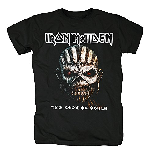 TSP Iron Maiden The Book of Souls - Camiseta para hombre Negro S