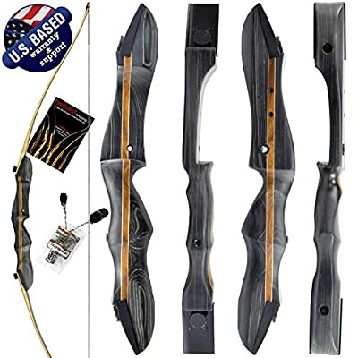 """Southwest Archery Ghost Takedown Longbow ? 64"""" Longbow Hunting Bow ? Right & Left Hand ? USA Based Company ? Perfect for Beginner to Pro"""
