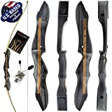 Southwest Archery Ghost Takedown Longbow – 64' Longbow Hunting Bow – Right & Left Hand – Draw Weights in 20-50 lbs – USA Based Company - 50RH W/Stringer