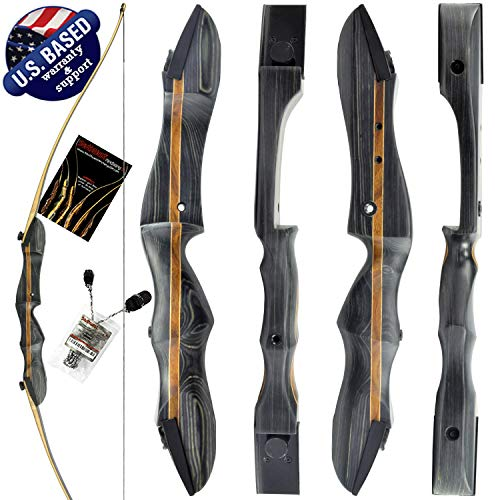 """Southwest Archery Ghost Takedown Longbow – 64"""" Longbow Hunting Bow – Right & Left Hand – Draw Weights in 20-50 lbs – USA Based Company - 50RH W/Stringer"""