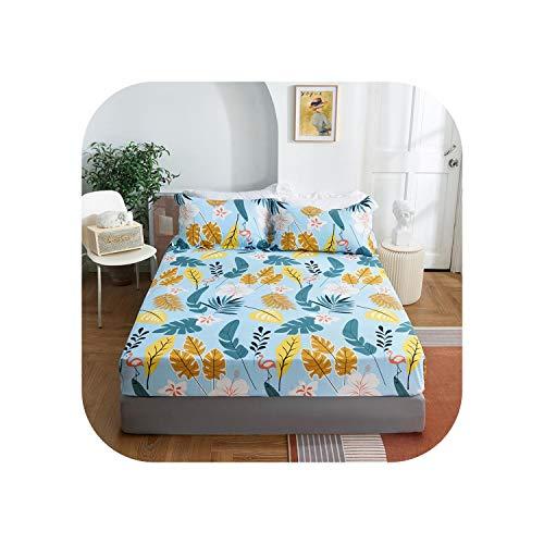 Star Harbor Bettgarnituren |2020 1 Stück Baumwolldruck Bettmatratze Set mit Vier Ecken und Gummibändern-yeyulanmanlan-120X200X25cm