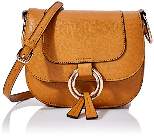 Dorothy Perkins Damen Ring Saddle Bag. Dessoustasche, Gelb (Ochre 430), One Size (Herstellergröße: 000)