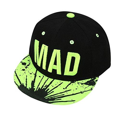 Vovotrade®Trend Hat Snapback Cap Casquette De Baseball Snapback Cap Kid Boys Girls Letters Casquettes De Baseball Plat Hip Hop Caps (Green)
