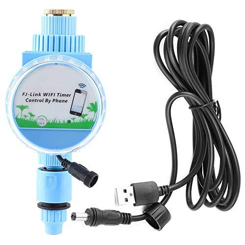 Temporizador de riego inalámbrico Temporizador de agua con USB, WiFi Teléfono Control remoto Grifo de manguera Temporizador de agua Controlador de riego programable para jardín Sistema de riego automá