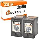 Bubprint 2 Cartuchos de Tinta Compatible con HP 56 Negro