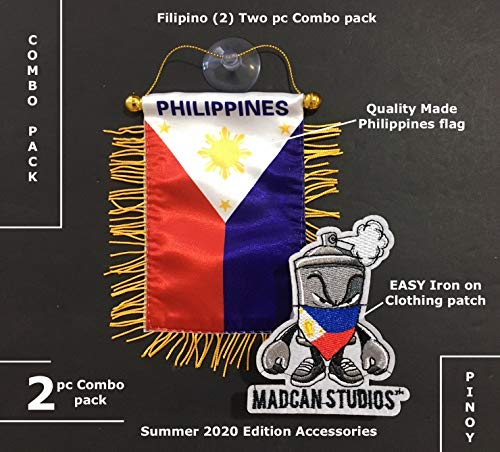 PRK 14 Philippines Small Quality Flags Filipino Decals for Cars Automobiles Home Sticks to Glass