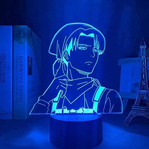 FUTYE 3D noche luz ilusión LED Anime Decoración lámpara USB 3D Anime Haikyuu Luz para niños Niño Dormitorio Decoración Noche Regalo Manga Gadget Haikyuu Lamp-7_Colors_Touch