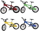 TOYMYTOY Finger Mountain Bike 1:18 Mountainbike Modell Spielzeug 4 Stücke Fahrrad Spielzeug für Kinder