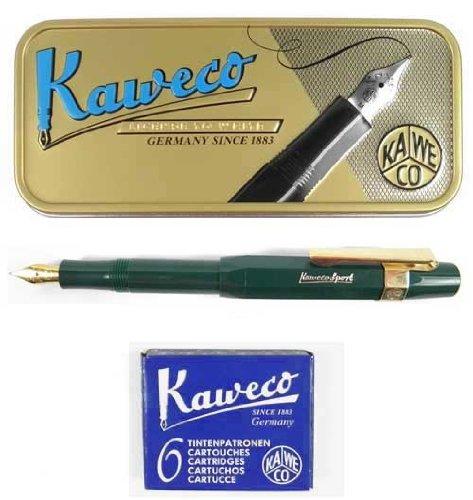 Kaweco Sport Classic Fountainpen green M (medium) set incl. cartidges, clip and giftbox by Kaweco