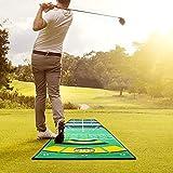 TTLIFE Alfombrilla de Golf 300 x 50cm Alfombra de Práctica para Entrenamiento en Interiores y Exteriores Colchoneta de Entrenamiento de Putting para Interiores y Exteriores