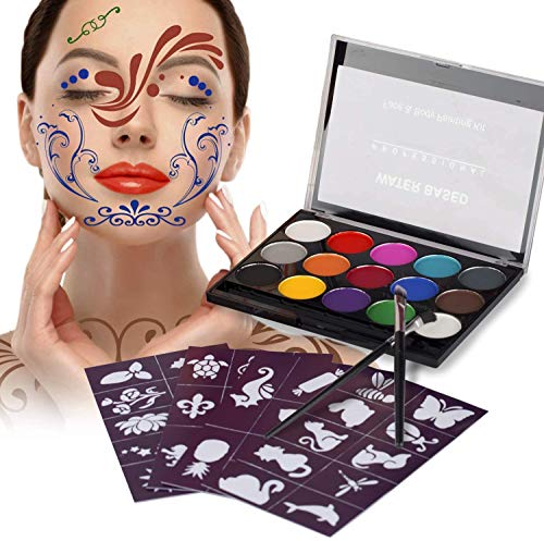 XPASSION Kit de Pintura Facial. Set de Maquillaje