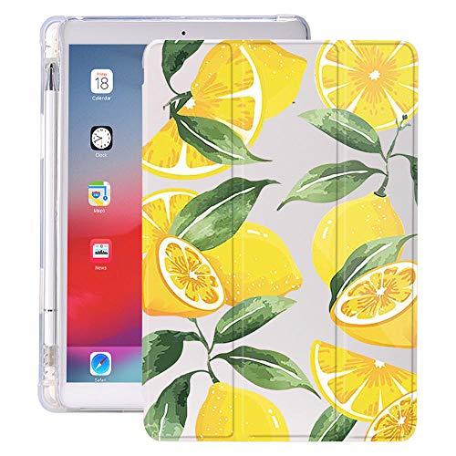 Las Hojas de limón con el Soporte de lápiz para iPad Air 3 10.5 Pro 11 2020 Air 4 10.9 2018 9.7 6º 7º Caso de la 8ª generación 10.2 2019 Mini 5 (Color : 20181, Size : 7 8)