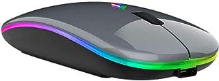 فأرة لاسلكية قابلة للشحن من أسيان تريندز - فأرة محمولة نحيفة مزدوجة الوضع مع ضوء LED USB 2.4 جيجاهرتز وفأر بلوتوث صامت متو...
