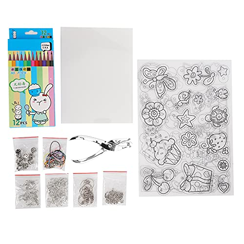 Fydun Shrink Film Set, Heat Shrink Plastics Kit, Shrinky Art Crafts Set for DIY Ornaments or Creative Craft