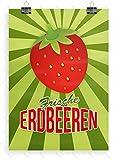 Despri Frische Erdbeeren Plakat - Poster, Werbeplakat, DIN