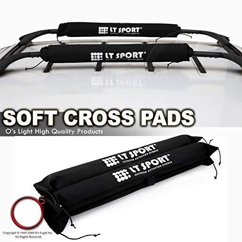 LT Sport Universal Cargo Carrier Cross Bar Pad Roof Rack Round Soft Cushion Wrap
