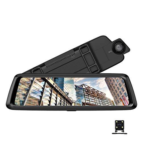 Grabador de conducción de pantalla grande de 10 pulgadas, puede estirar lentes duales delanteros y traseros de alta definición, DVR de automóvil inteligente, navegación GPS, se puede conectar a teléfo