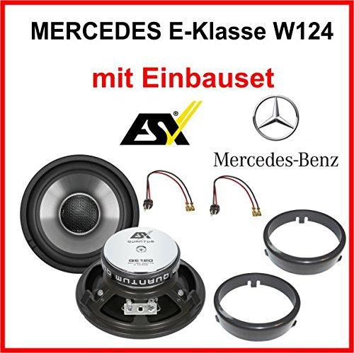 Heck Lautsprecher Set ESX QE120 für Mercedes E-Klasse W124 1984 - 1997