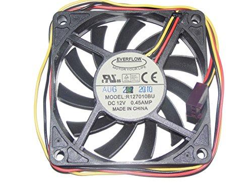 EVERFLOW 7010 R127010BU - Ventilador de refrigeración (12 V, 0,45 A, 3 canales)