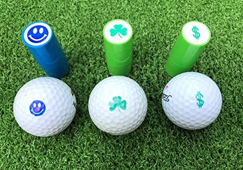 LL-Golf ® Golfball Stempel/Golf Ball Markierer/Marker in verschiedenen Designs (Glücksklee)