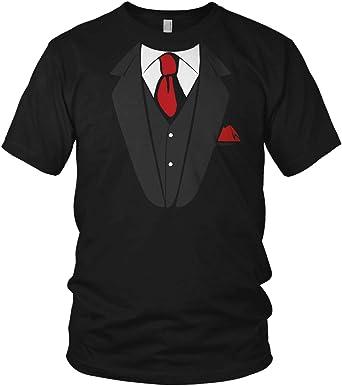 Falso traje de esmoquin falso con corbata impresión JGA – Camiseta para hombre y camiseta para hombre