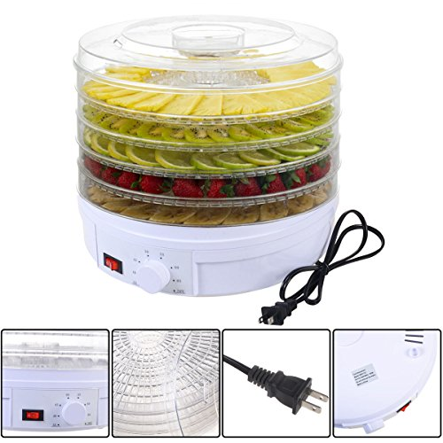Best Deals! 5 Tray Electric Food Dehydrator Fruit Vegetable Dryer Beef Snack Jerky White New