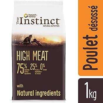 True Instinct High Meat Adult - Nature's Variety - Croquettes pour Chat Adulte avec Poulet Désossée - 1kg