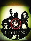 El rey león Vinyl Record Creative Reloj de pared 30,5 cm negro Round de Handmade de...