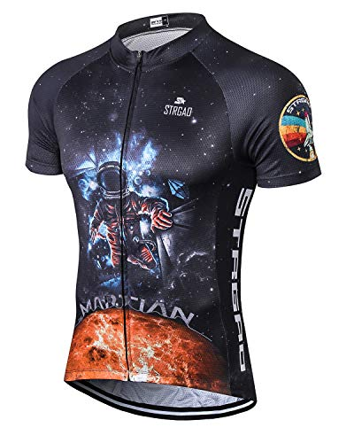 MR Strgao Men's Cycling Jersey Bike Short Sleeve Shirt Size 2XL
