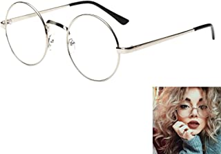 6dcac99703 Women Retro Clear Lens Glasses Classic Metal Oversized Round Frame  Eyeglasses