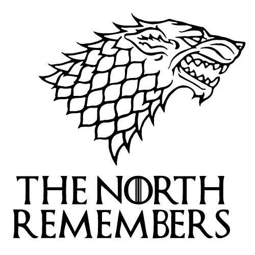 The North Remembers The Game of Throne Decal Sticker for Car Window, Laptop, Motorcycle, Mirror (White)