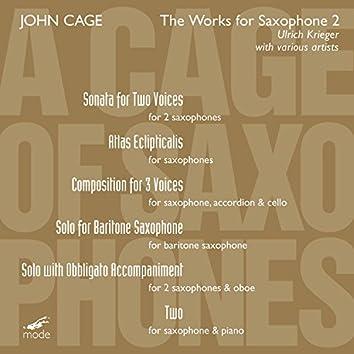 Cage: A Cage of Saxophones, Vol. 1