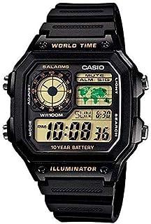 Casio World Time Alarm Digital 100M 5 ALARMS