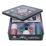 【Cadeau d'Avril】 Juego de apuestas, Juego de póquer, Interesante Juego para Adultos, portátil para los entusiastas del póquer Black Jack Night Texas Holdem