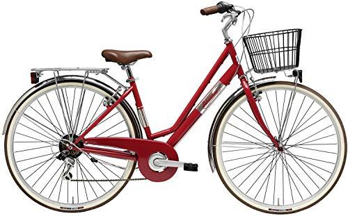 Adriatica 28 Zoll Damen City Fahrrad Panarea 6 Gang, Farbe:rot