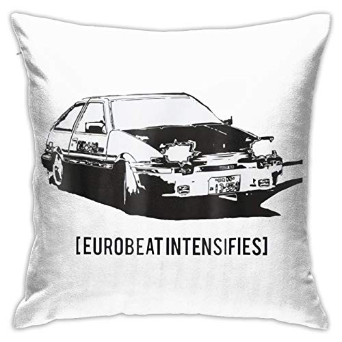 OXOFDTZCV Eurobeat Funny Pillowcase Home Sofa Bed Decorated with Soft and Comfortable Washing Pillowcase (1818in)